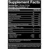 Supplement facts panel for Blue Ribbon Nutrition BCAAs AMINO+