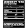Blue Ribbon Chocolate whey protein isolate supplement facts panel
