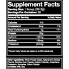 Blue Ribbon Vanilla whey protein isolate supplement facts panel