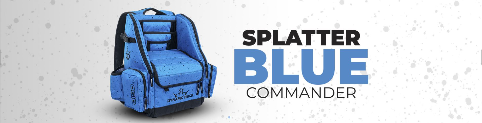 Splatter Blue Commander Backpack