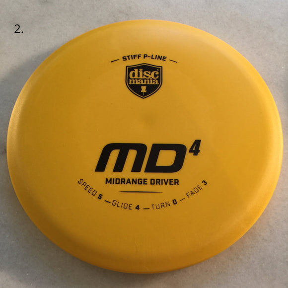 Discmania Stiff P-Line MD4 Yellow