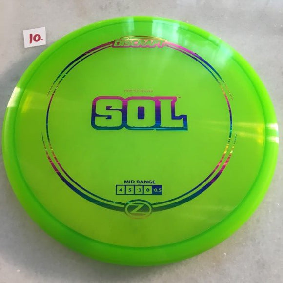Discraft Elite Z First Run Sol Green 10