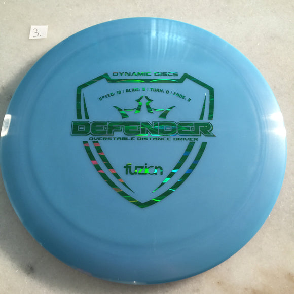 Dynamic Discs Fuzion Defender Blue