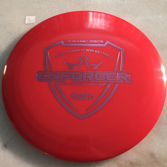 Dynamic Discs Fuzion Enforcer Red