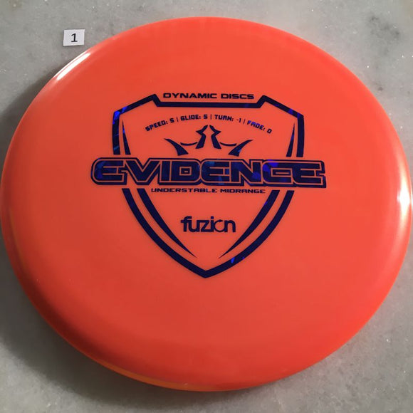 Dynamic Discs Fuzion Evidence #1 Orange 178g