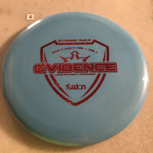 Dynamic Discs Fuzion Evidence #4 Blue 178g