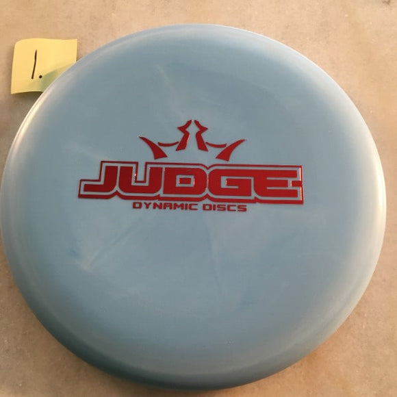 Dynamic Discs Classic Moonshine Judge Bar Stamp Glow Blue