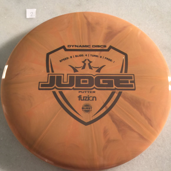Dynamic Discs Fuzion Burst Judge Orange