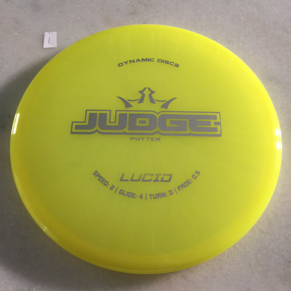 Dynamic Discs Lucid Judge Yellow