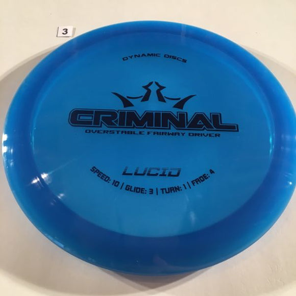 Dynamic Discs Lucid Criminal #3 Blue
