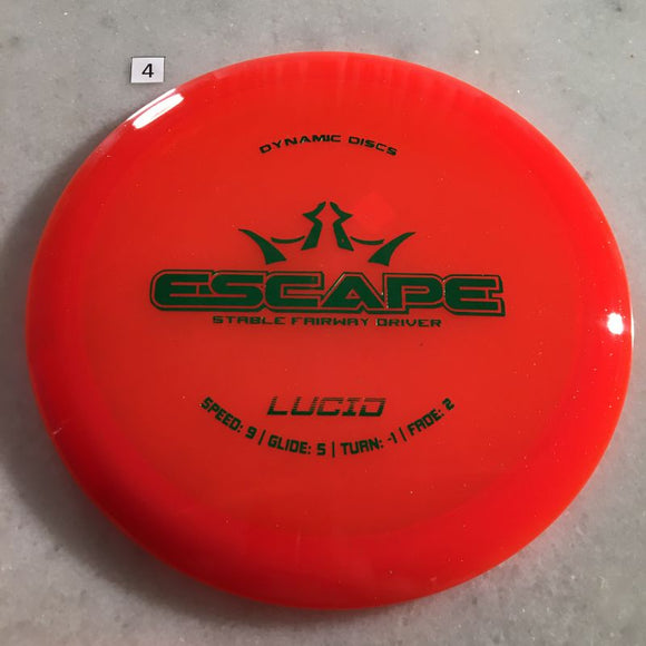 Dynamic Discs Lucid Escape #4 Orange