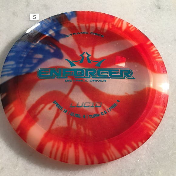 Dynamic Discs Lucid MyDye Enforcer USA #5