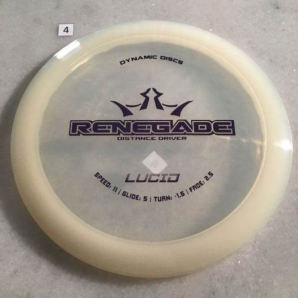 Dynamic Discs Lucid Renegade #4 Clear
