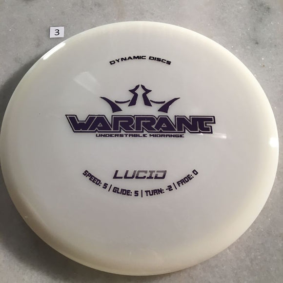 Dynamic Discs Lucid Warrant White #3