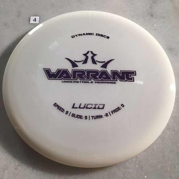 Dynamic Discs Lucid Warrant White #4