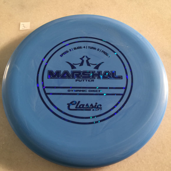 Dynamic Discs Classic Soft Marshal Blue