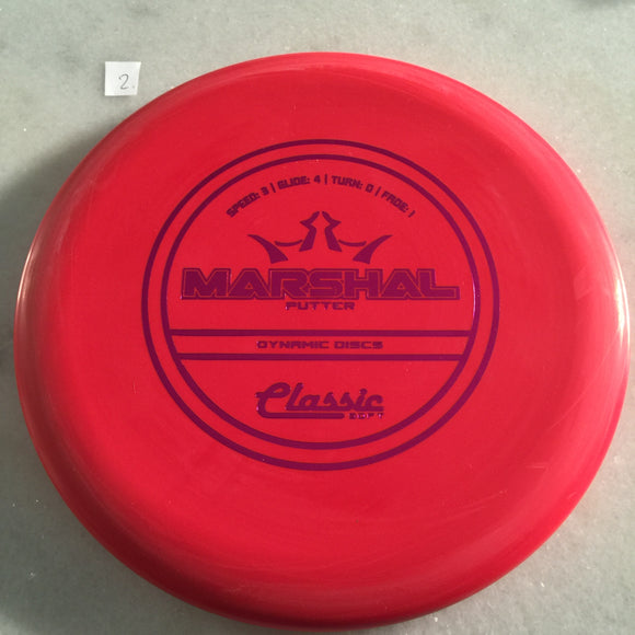 Dynamic Discs Classic Soft Marshal Red
