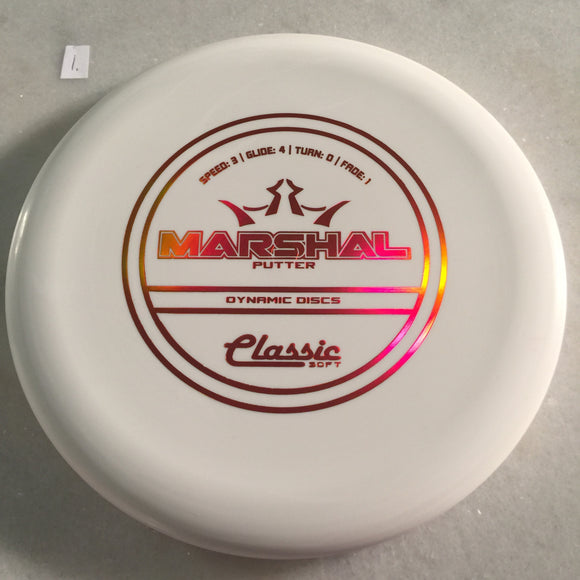 Dynamic Discs Classic Soft Marshal White