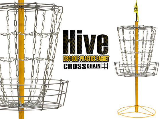 Hive Cross Chain Disc Golf Basket