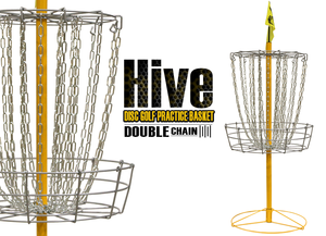 Hive Double Chain Disc Golf Basket