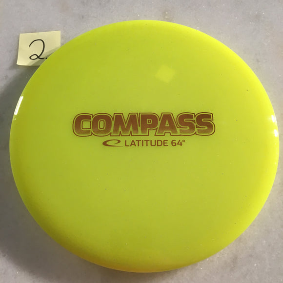 Latitude 64 Opto Compass Yellow Bar Stamp