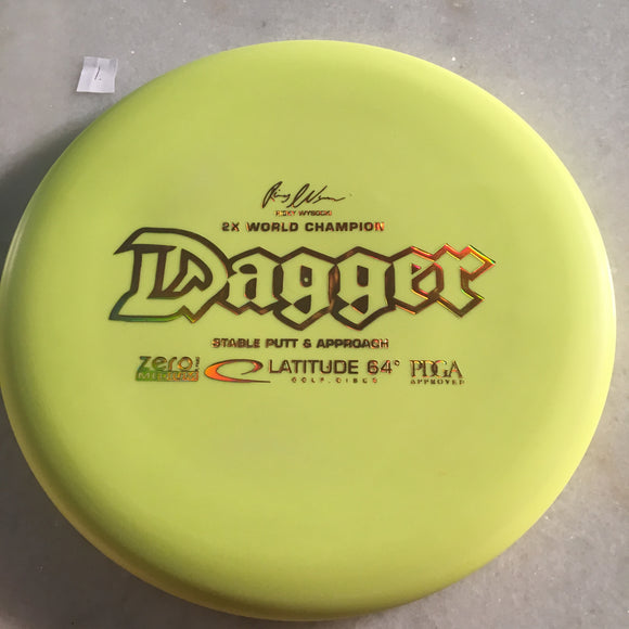 Latitude 64 Zero Medium Dagger Yellow