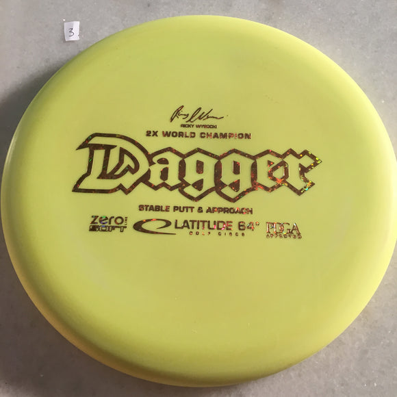 Latitude 64 Zero Soft Dagger Yellow