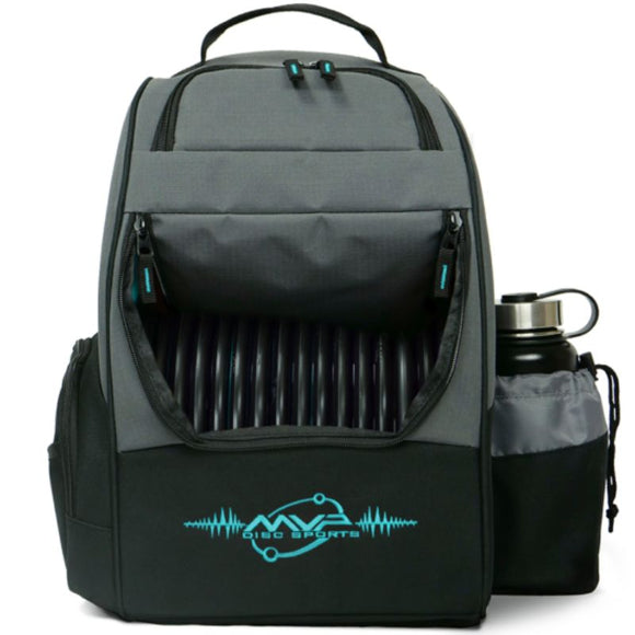 MVP Shuttle Bag Gray-Aqua Front
