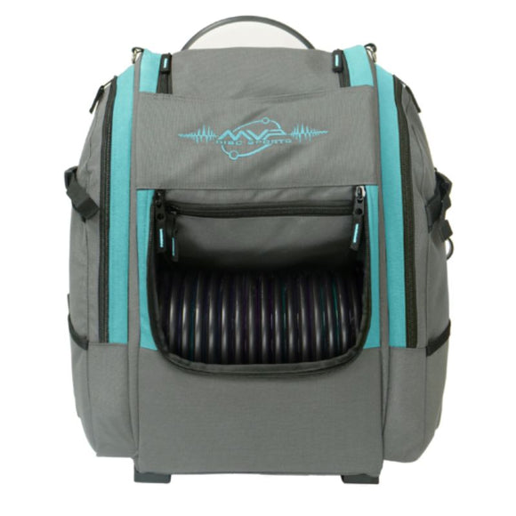 MVP Voyager V2 Backpack Gray-Aqua Front