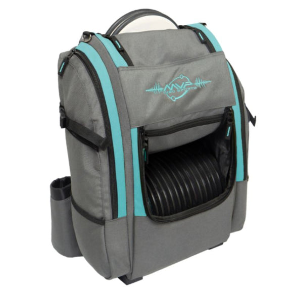 MVP Voyager V2 Backpack Gray-Aqua Side