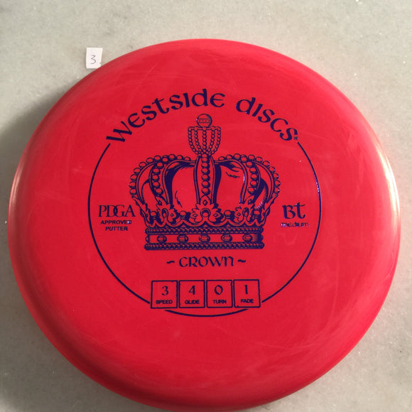 Westside Discs BT Medium Crown Red