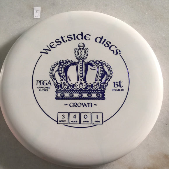 Westside Discs BT Medium Crown White 5
