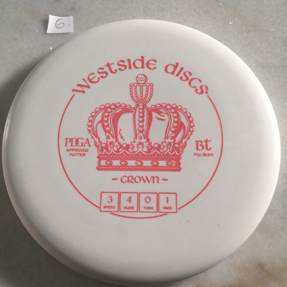 Westside Discs BT Medium Crown White 6