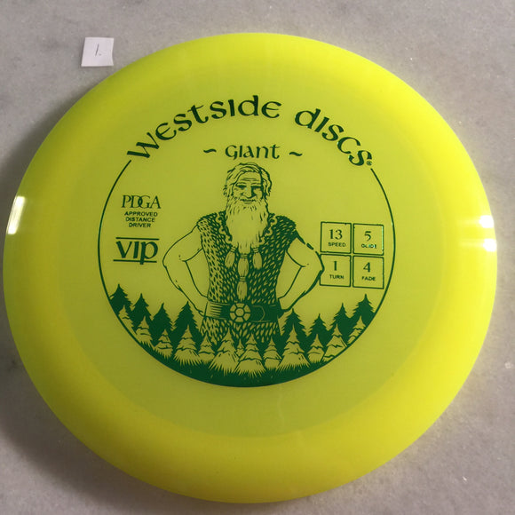 Westside Discs VIP Giant Yellow