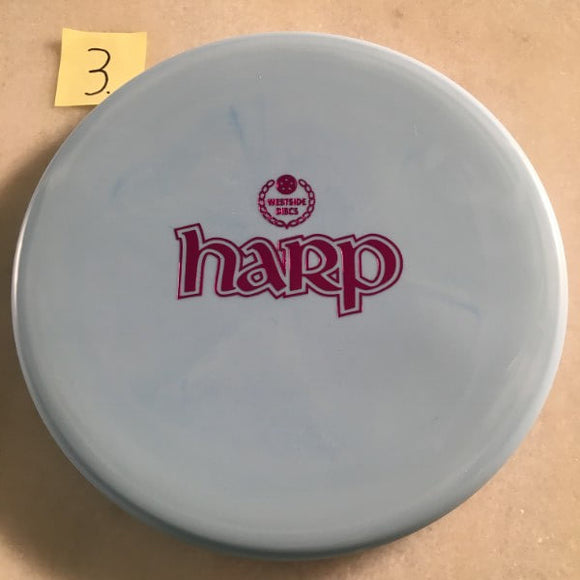Westside Discs BT Medium Moonshine Harp Bar Stamp Glow Blue