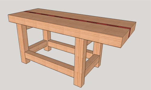 How to make a Split-Top Roubo Woodworking Bench for Under $200