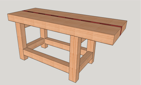 How to make a Split-Top Roubo Woodworking Bench for Under $200 ...
