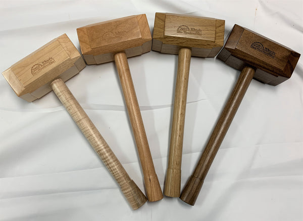 Domestic hardwood thor hammer woodworking mallet walnut oak cherry maple