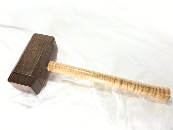FULL SIZE - Woodworking Mallet like Thor's Hammer Mjolnir from Walnut and Tiger Maple