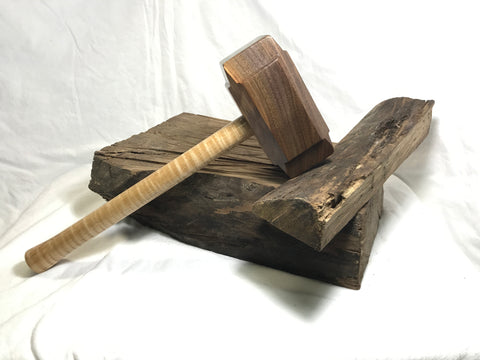 Full Size Woodworking Mallet like Thor's Hammer Mjolnir from Walnut and Tiger Maple