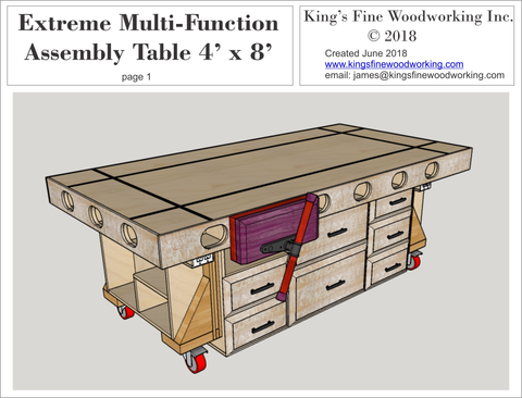 Extreme Torsion Box Assembly Table and Outfeed/Workbench