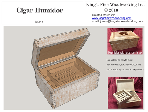 Cigar Humidor Woodworking Plans