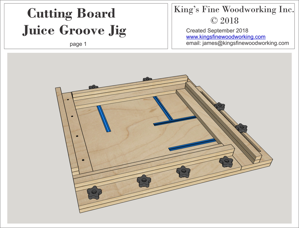 3d Plans For Cutting Board Juice Groove Jig King S Fine