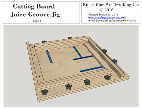 3D Plans for Cutting Board Juice Groove Jig