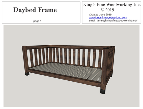 Daybed Frame from Walnut Plans