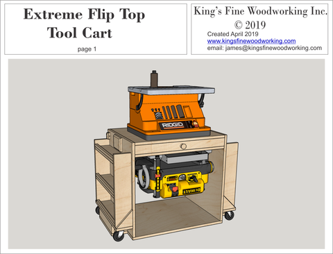 Plans for Flip Top Tool Cart