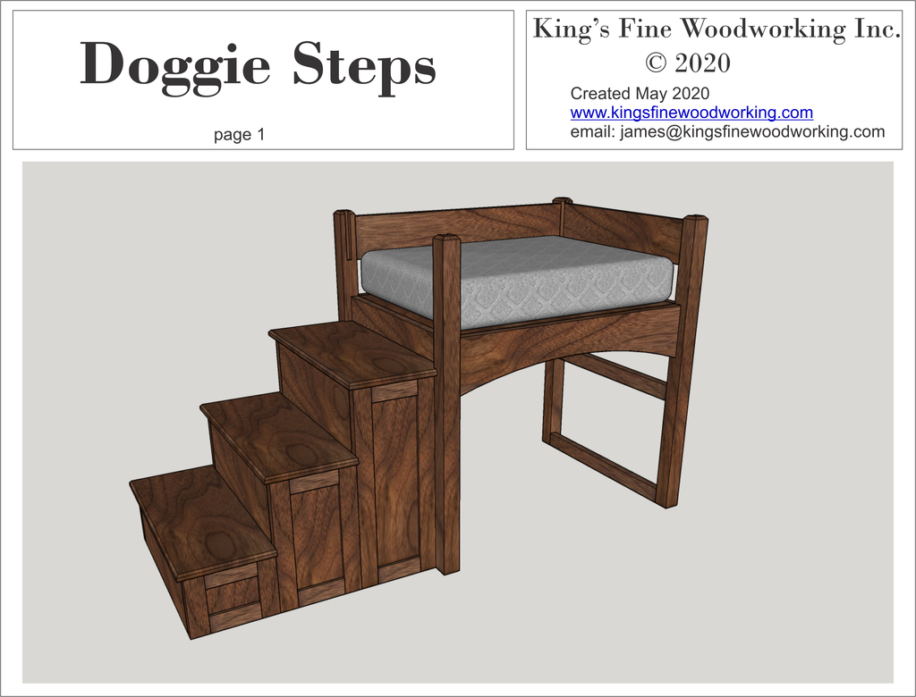 Doggy Steps Plan detailed 3D in PDF format