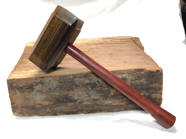 Thor's Hammer Woodworking Mallet Bocote Head Redheart Handle
