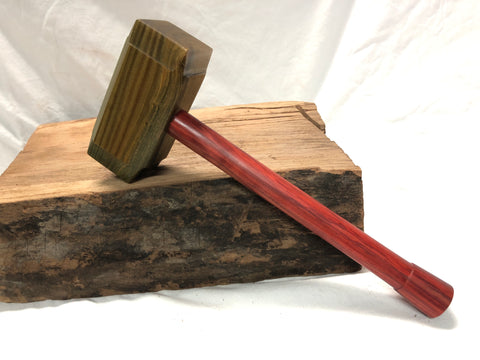 Full Size Thor's Hammer Woodworking Woodworking Mallet with Lignum Vitae Head and Redheart handle