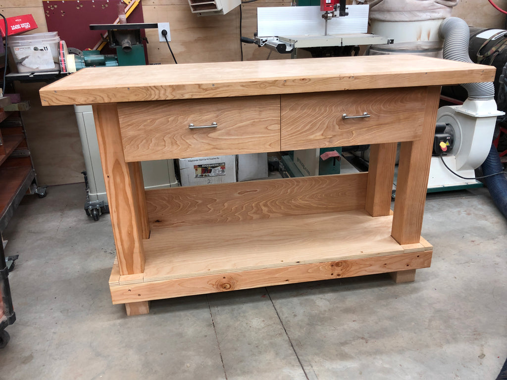 ... Basic Workbench With Drawers 3D Plans ...